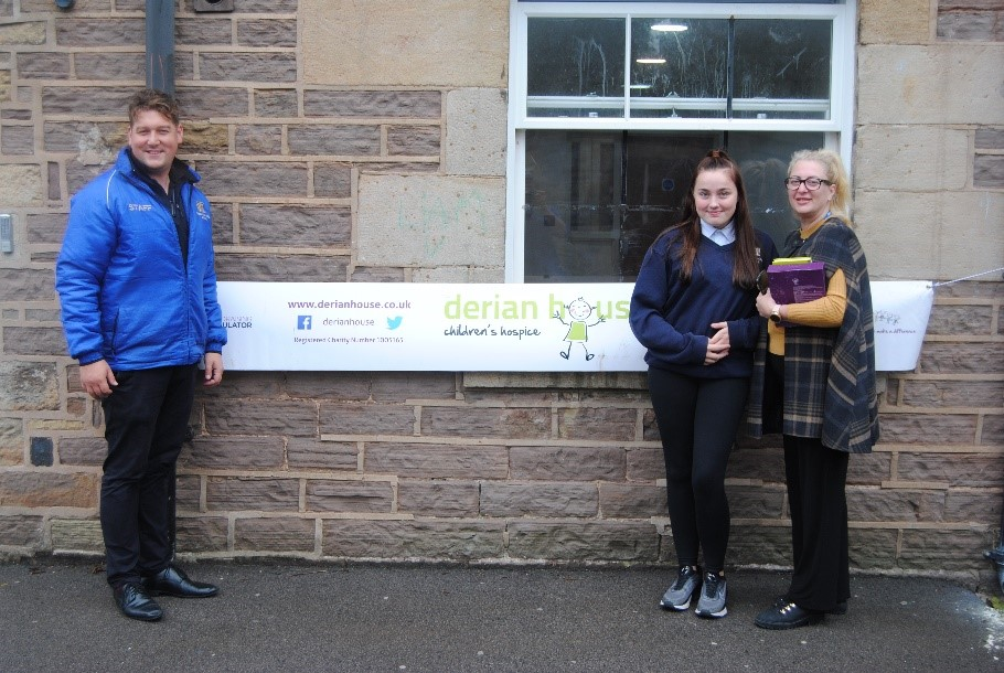 Derian House supported by Waterloo Lodge School as the chosen charity of our pupils.