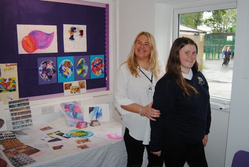Parent and Pupil happy at Waterloo Lodge School